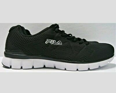 dd2da4ab0 Fila Men s Memory Refractive Athletic Memory Foam Running Shoe Black Sz 9  New