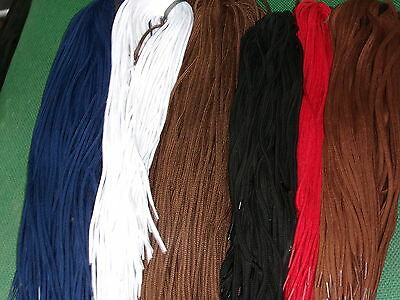 Shoe Laces 10  Pairs Lot 2 Pairs Of Each Colour Tan/brown /red/white/navy