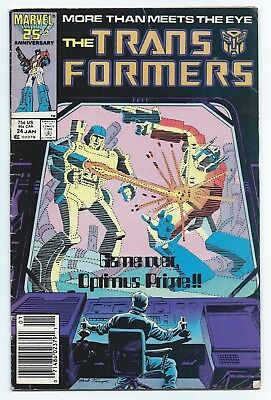 1987 Marvel Comics The Trans Formers Transformers #24 Afterdeath