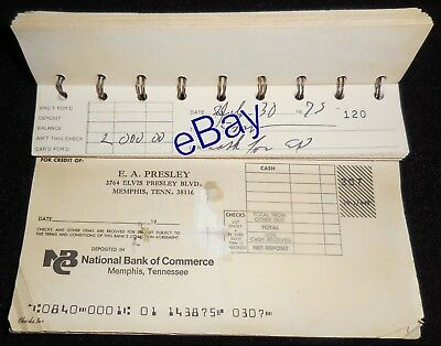 Elvis Presley Personal Owned WRITTEN Check Stub - $2,000 on July 30, 1975!