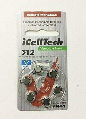 iCellTech Size 312 Hearing Aid Batteries (60 batteries)