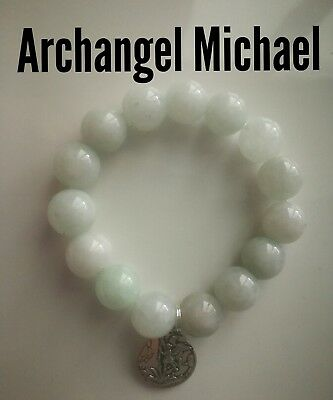 Code 415 Archangel Michael Agate Infused bracelet Spiritual Angel Practitioner