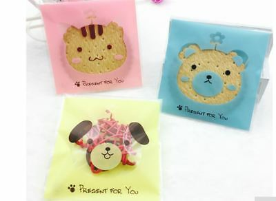 Self Adhesive Plastic Gift Bag Cookie Candy Biscuit Small Gift Bag 10 Per Pack