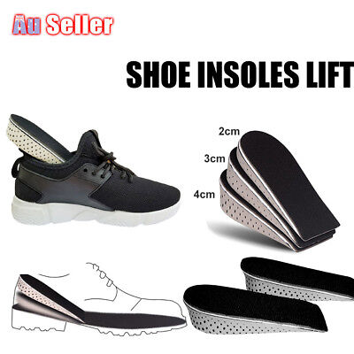 Arch Support Shoe Memory Cotton Half Height Insoles Heel Insert Increase Tall Pa