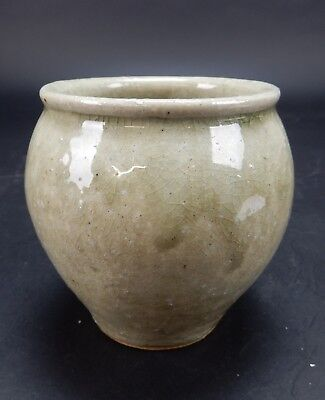 Antique Chinese Song Dynasty Earthenware  Glazed Squat Vase 5 inches