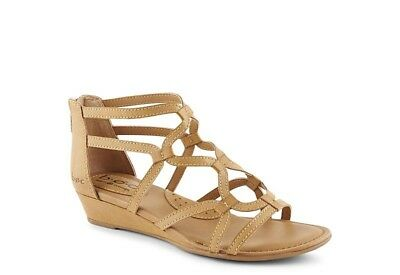 e0c7b1b7a321 B.O.C. Born Pawel Gladiator Black Low Wedge Sandals - Womens Size 10 M  Natural