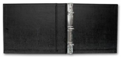 3 Ring Check Binder, 3 on- a-Page Business Compact Check Book Binder,  Black