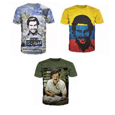 19b3de724 Hot PABLO ESCOBAR Summer Women/Men 3D Print T-Shirt Sleeve Casual short top