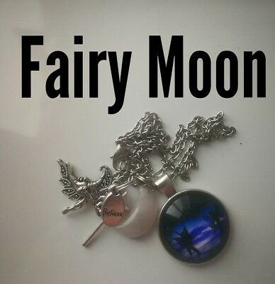 Code 300 Moon Fairy Agate Infused Necklace Fairyologist Doreen Virtue Wand moon
