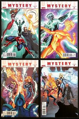 Ultimate Mystery #1 2 3 4.  Bendis Complete set.  #1 3 J. Scott Campbell covers!