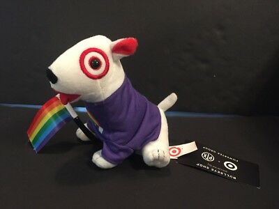 RARE NWT Take Pride Target Bullseye Puppy Dog Plush Toy Doll Purple Flag
