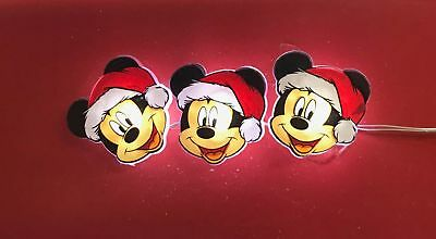 Disney Santa Mickey Mouse 20 Christmas Holiday Mini Light Set with 6 hour Timer