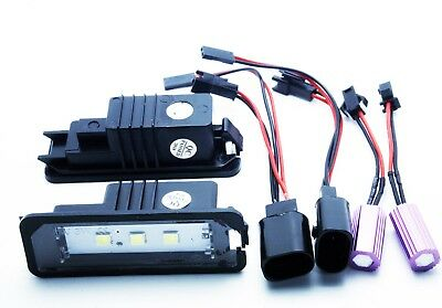 2x LED LICENSE NUMBER PLATE LIGHT VW GOLF 4 5 6 7 CANBUS