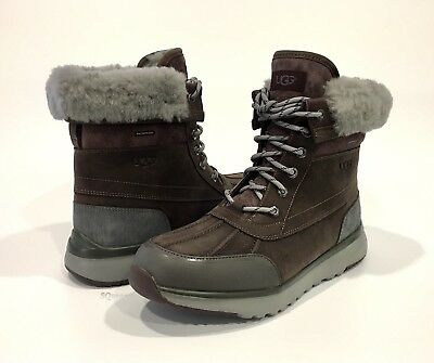 9fd14e30f29 UGG RUFFINS MEN'S WATERPROOF DUCK BOOTS BROWN LEATHER -US Size 8.5 ...
