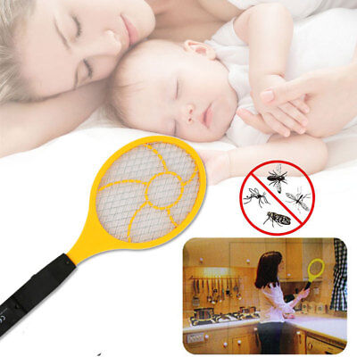 Anti Mosquitoes Zapper Trap Control Flyswatter Electric Tennis Racket Handheld