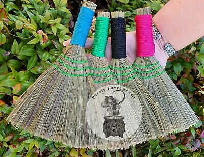 BESOM BROOM Pack of 5 SMUDGING CLEANSING HEATHER Wicca Witch Pagan Altar Ritual
