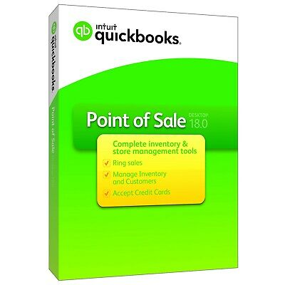 QuickBooks Desktop Point of Sale v18 Pro New User (PC Download + CD)