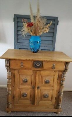 Antique Rustic Ornate Carved French Spanish Sideboard Cupboard Tv Cabinet Unit