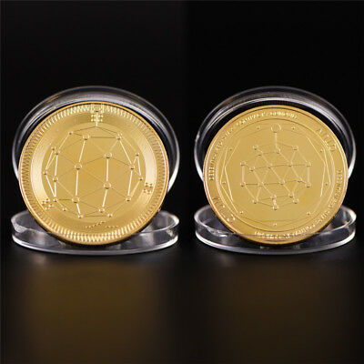 Gold Quantum Coin Commemorative Round Collectors Coin Bit Coin Collectible FB