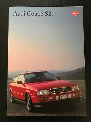 AUDI S2 Coupe Brochure Depliant Catalogo Prospetto Opuscolo in ITALIANO