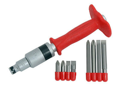 "CT1867 10PC Pound Impact Driver 80mm & 35mm Screwdriver Bits 1/2"" Drive Adaptor"