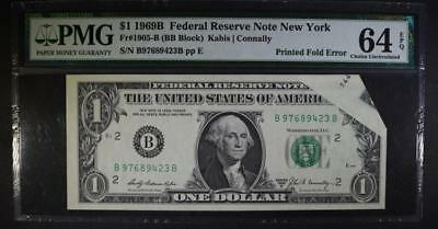 1969B $1 FEDERAL RESERVE NOTE NEW YORK Lot 380