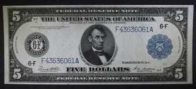 1914 $5 FEDERAL RESERVE NOTE AU Lot 388