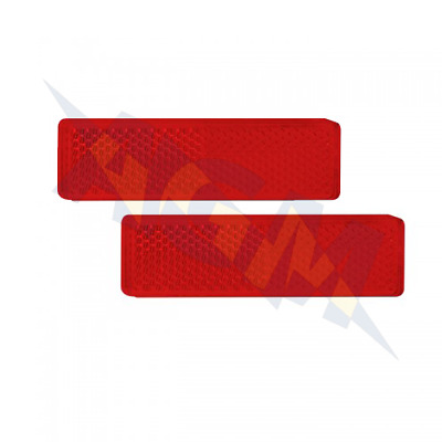 Led Autolamps 9020R Twin Pack Of Red Rectangular Rear Reflectors