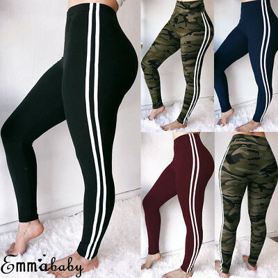 AU Womens Yoga Fitness Leggings Sports GYM Workout High Waisted Butt Lift Pants