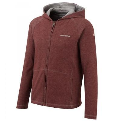 Craghoppers Kids Boys Nosilife Insect Repellent Avila Hoodie in Red - 7-8 Years