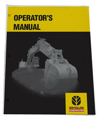 New Holland LB75.B Loader Backhoe Owners Operators Maintenance Manual Book