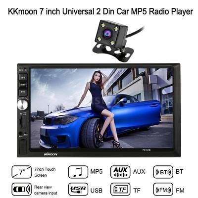 "7"" DOUBLE 2DIN Car MP5 Player Bluetooth Touch Screen Stereo Radio HD+Camera B1D9"
