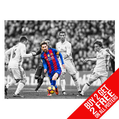 Lionel Messi Barcelona Poster Print A4 / A3 Size - Buy 2 Get Any 2 Free!