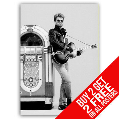 George Michael Faith Poster Cc11 Print A4 / A3 Size - Buy 2 Get Any 2 Free!