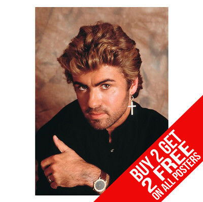 George Michael Poster Ee1 Print A4 / A3 Size - Buy 2 Get Any 2 Free!