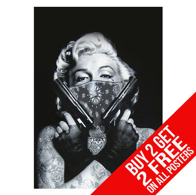 Marilyn Monroe Gangster Poster Bb1 Print A4 / A3 Size - Buy 2 Get Any 2 Free!