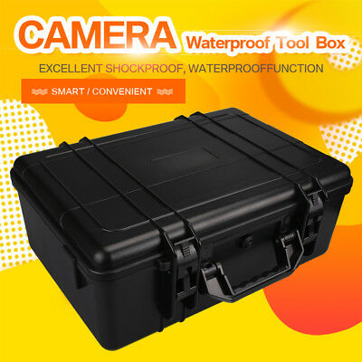Waterproof Large Storage Carry Hard Box Case Box For Flight DSLR HD Camera UK