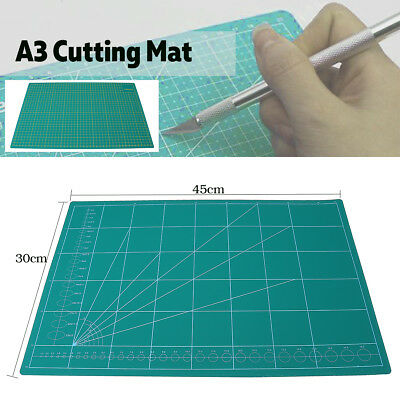 A3 PVC Self Healing Craft Cutting Mat Quilting Grid Lines Printed Scrapbooking