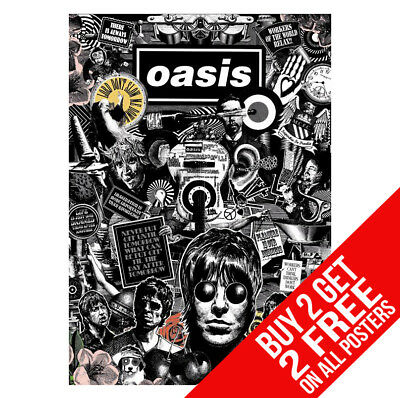 Oasis Poster Bb9 Liam Noel Gallagher A4 A3 Size - Buy 2 Get Any 2 Free