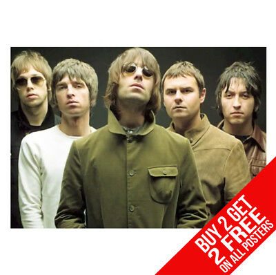 Oasis Poster Cc2 Liam & Noel Gallagher A4 A3 Size - Buy 2 Get Any 2 Free