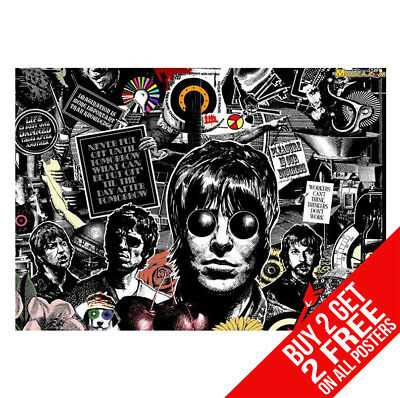 Oasis Poster Dd4 Liam & Noel Gallagher A4 A3 Size - Buy 2 Get Any 2 Free