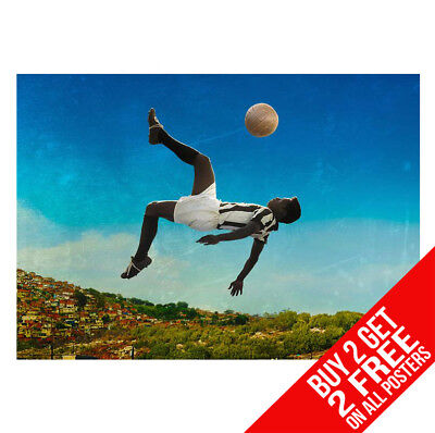 Pele Football Cover 1966 wall Poster Print Art A3 Size #02
