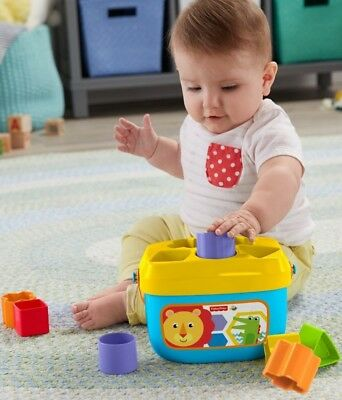 6 months + Fisher-Price Baby's First Blocks Easy-carry handle 10 colorful blocks