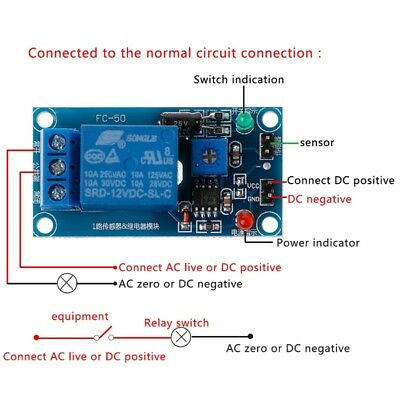 DC 12V Soil Moisture Sensor Automatic watering of the humidity starting Relay
