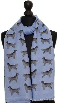 Golden Retriever dog breed print scarf hand printed ladies fashion womens shawl