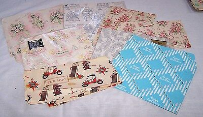 Vintage Pcs & Sheets Of Gift Wrap-Wedding-Birthday-Misc-1950's+ Scrapbook-Art