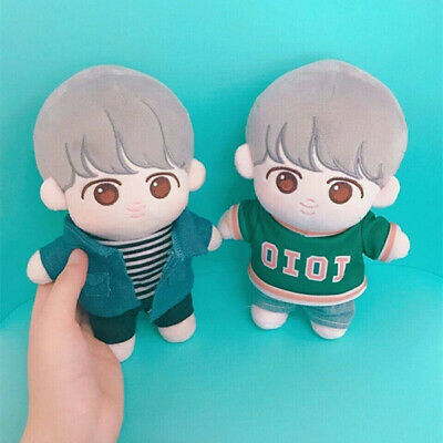 KPOP BTS JIMIN Plush doll toy with 2sets clothes Cookie-JIMIN doll Limited 20cm
