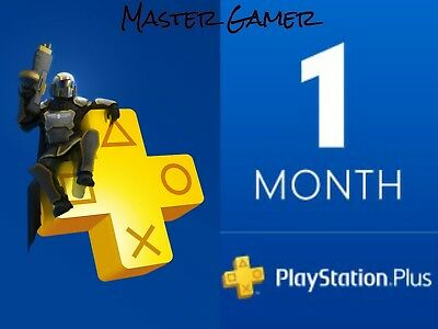 PS PLUS 28 DAYS TRIAL PS4 - PS3 - PS VITA PLAYSTATION 1 Month (NO CODE)