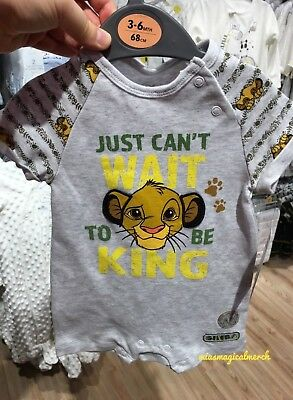 Brand New Primark Disney Baby Boy's Lion King Simba Clothing Outfit Romper