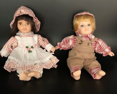 Cute Porcelain With Plush Body Doll Collection